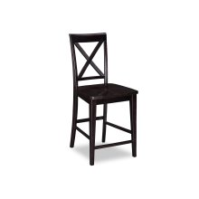 Lexi Pub Chairs Set of 2 with Wood Seat in Espresso