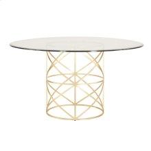 Gold Leaf X Motif Dining Table Base.