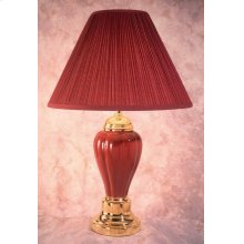 Becka Burgundy/Gold Table Lamp