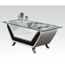 Rozene White/bk Coffee Table