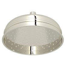 "Polished Nickel 8"" Bordano Rain Anti-Cal Showerhead"