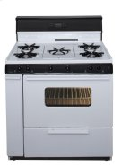 36 in. Freestanding Gas Range with 5th Burner and Griddle Package in White Product Image