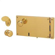 Lifetime Polished Brass 5644 Horizontal Cylinder Lock