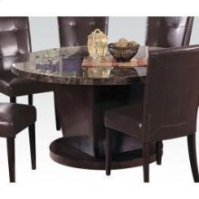 "Kit - 54""d Bk Marble Top Table"