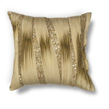 "L181 Gold Ruffles Pillow 18"" X 18"""