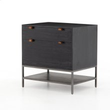 Black Wash Poplar Finish Trey Modular Filing Cabinet