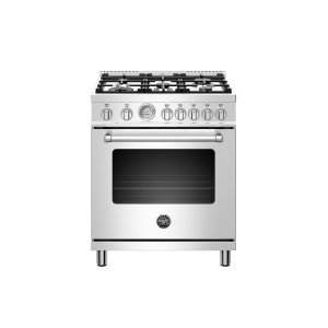 30 inch Dual Fuel, 5 Burners, Electric Oven Stainless Steel Product Image