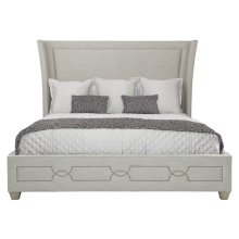 King-Sized Criteria Upholstered Bed in Heather Gray (363)