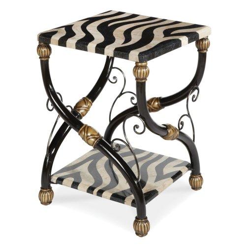 Zebra Accent Table