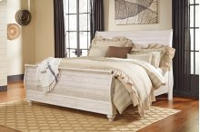 Willowton - White Wash 3 Piece Bed Set (King)