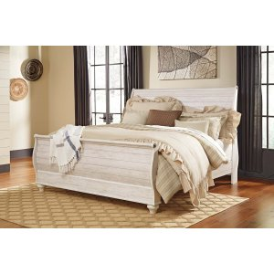 Ashley Furniture Willowton - Whitewash 3 Piece Bed Set (King)