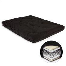 8-Inch Futon Mattress with Multi-Layer Innerspring Core, Black