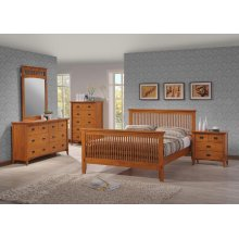 Mission 6 Drawer Double Dresser