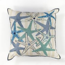 "L110 Starfish Gala Pillow 18"" X 18"""