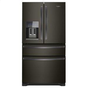 36-Inch Wide French Door Refrigerator - 25 cu. ft. - BLACK STAINLESS