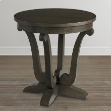 Provence Espresso Provence Round Lamp Table
