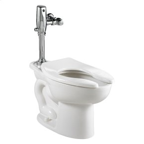 Madera ADA Toilet with Selectronic Exposed Battery Flush Valve System - White