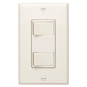 Broan120V Two-Function Controls - Ivory Finish