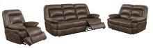 Levi Brown Leather Gel Reclining Sofa
