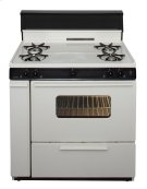 36 in. Freestanding Gas Range in Biscuit Product Image