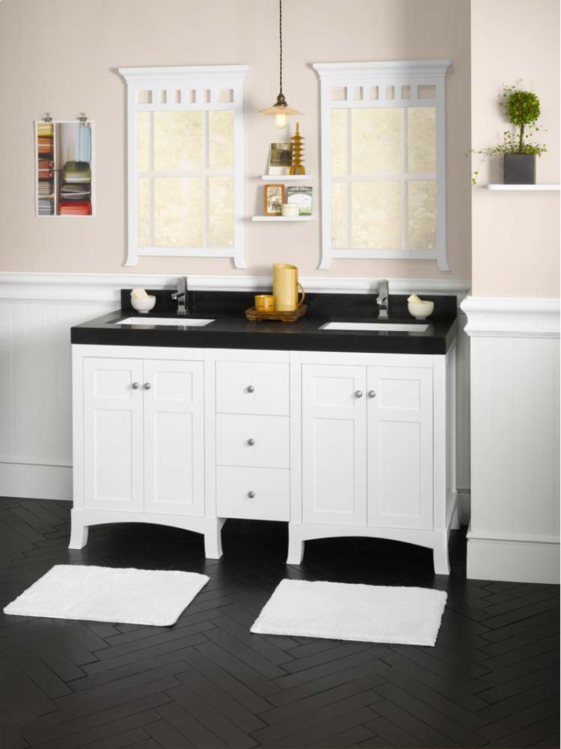 Hampton 24 Bathroom Vanity Cabinet Base In White