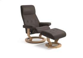 Stressless Sky Large Classic Base Chair and Ottoman