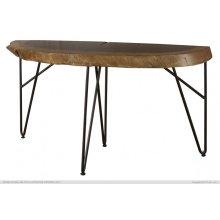 Authentic Live-Edge Sofa Table