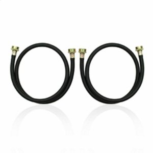 Amana4' Residential Washer Hoses - 2 Pack - Black
