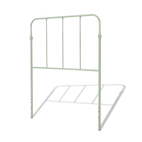 Nolan Complete Kids Bed with Metal Duo Panels, Mint Green Finish, Twin