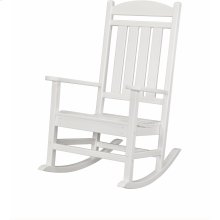 All-Weather Pineapple Cay Porch Rocker - White