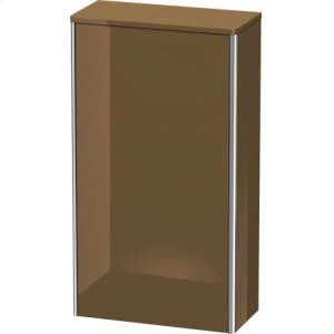Semi-tall Cabinet, Olive Brown High Gloss Lacquer