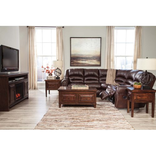 Manzanola - Chocolate 2 Piece Sectional