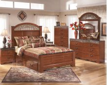 Fairbrooks Estate - Reddish Brown 4 Piece Bed Set (King)