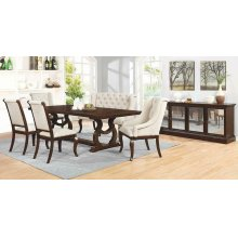 Glen Cove Traditional Dark Brown Dining Table