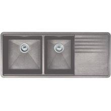 Blanco Precis Multilevel 1-3/4 Bowl With Drainer - Concrete Gray