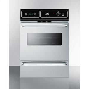 "SummitStainless Steel Gas Wall Oven With Electronic Ignition and Digital Clock/timer; for Cutouts 22 3/8"" Wide By 34 1/8"" High"