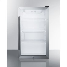 Commercially Approved Outdoor Beverage Cooler for Freestanding Use With Glass Door and Black Cabinet