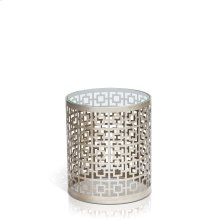 Carole Round Clear Glass End Table