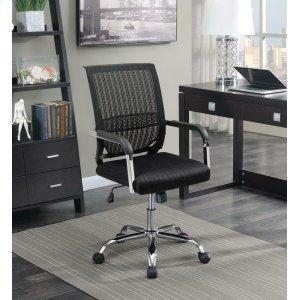 CoasterContemporary Black Mesh Back Office Chair