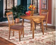 Berringer - Rustic Brown Drop-Leaf Table and 2 Chairs Product Image