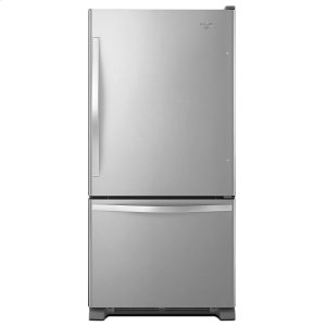 33-inches wide Bottom-Freezer Refrigerator with SpillGuard Glass Shelves - 22 cu. ft - STAINLESS STEEL