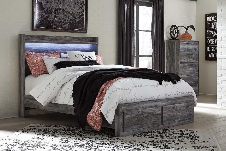 Hidden · Additional Baystorm   Gray 4 Piece Bed Set (Queen)
