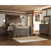 Juararo - Dark Brown 7 Piece Bedroom Set