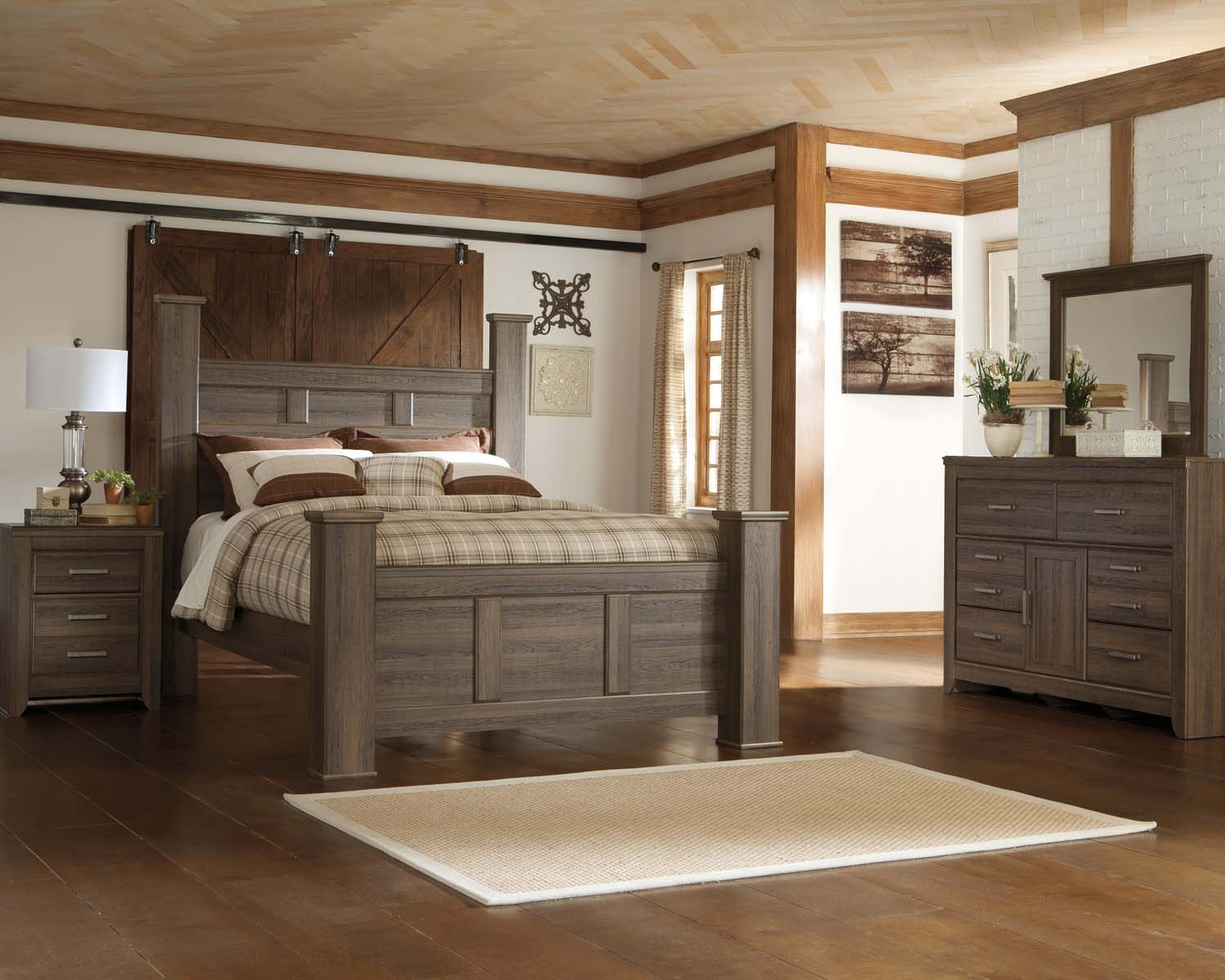 Juararo   Dark Brown 7 Piece Bedroom Set