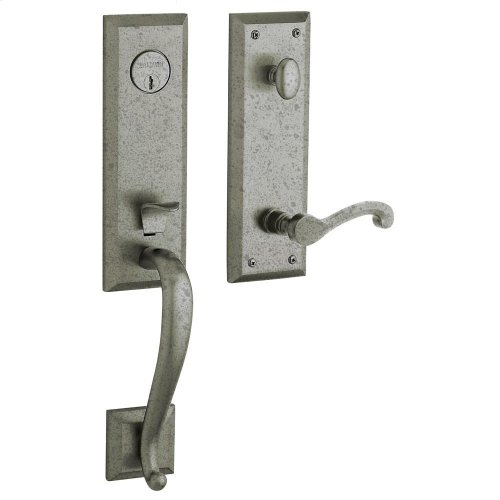Distressed Antique Nickel Stonegate Handleset