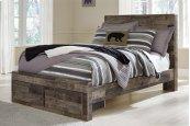 Derekson - Multi Gray 4 Piece Bed Set (Full)