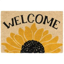 Doormat Welcome Sunflower Gold/Black 24x36