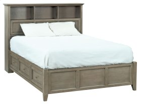 FST McKenzie Queen Bookcase Storage Bed