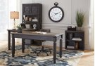 Tyler Creek - Grayish Brown/Black 3 Piece Home Office Set Product Image