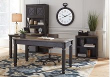 Tyler Creek - Grayish Brown/Black 3 Piece Home Office Set